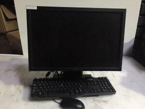 """Dell Optiplex 780 USFF AIO Core 2 Duo E8400 C2D 3.0Ghz 4GB 160GB DVDRW  19"""" LCD"""