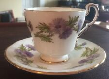 English Paragon Highland Queen Bone China Footed Demitasse Tea Cup & Saucer