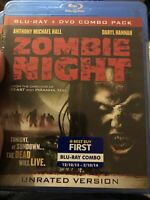 ZOMBIE NIGHT,NEW! BLU-RAY & DVD 2 SET,UNRATED,Daryl Hannah,Michael Hall ,Horror