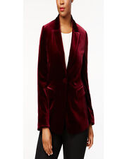 Women Sports Blazers Jackets Stylish Party Wear Slim Fit Maroon Velvet Tuxedo