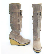 Suede Slouch Boots Bumper in Beige by Robert Clergerie UK 6.5 - BRAND NEW!