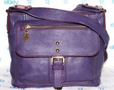 ✿ MAXX NEW YORK Purple Premium Pebbled Leather Cross-Body Bag EXCELLENT!!! L@@K!