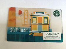Starbucks Gift Card 2015 San Francisco Cable Car Golden Gate Bridge