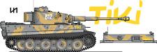 TAMIYA HENLONG TAIGEN MATO 1/16 EARLY TIGER I TANK DECALS - SS DIVISIONS NEW!!!