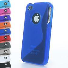 Gel De Silicona Grip Wave S-line Funda Protectora Para Iphone 4 4s visibles Con Logo De Apple