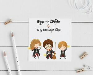 Harry Potter Personalised birthday card- Any name age and message can be added