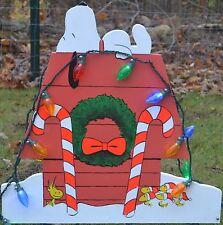 lawn stake Christmas decorations yard art snoopy Peanuts Christmas lights