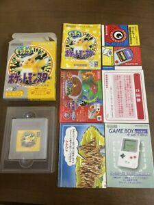 Pocket Monster Pikachu Yellow Pokemon GB Nintendo Game Boy Import Complete Japan