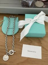 Genuine rare Tiffany & Co Chunky Toggle Sterling Silver Necklace In Packaging