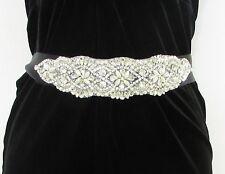 Schwarz Silber Perlen Strass Gürtel 1920s Flapper Abiball Great Gatsby Vintage
