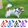 Cute Paw Print Dog Step-In Harness and Lead Nylon Pet Strap Walking Vest Leash
