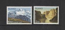1986 Iceland Europa Series SG 677/8 muh set of 2