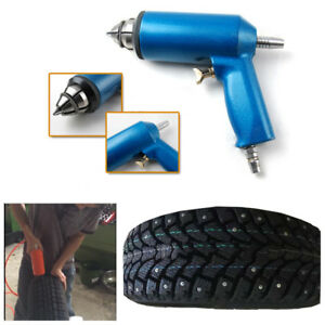 Portable 1X Car Motorcycle Wheel Tyre Snow Chains Studs Tire Nail Air Gun Winter