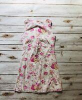 Gap Kids Girls Shift Floral Dress Vintage  Size M 7/8 Lined Spring Summer