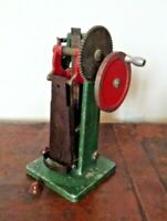 Vintage Mechanical Metal Hand Operated Embosser Press Stamp Machine of 3D Hand