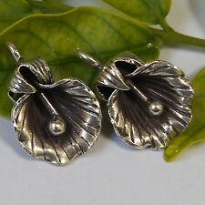 One pair Flower Pendant Silver Karen Hill tribe