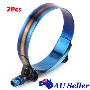 """301 Stainless Steel T-Bolt Clamp 2x 72mm - 80mm For 2.83"""" - 3.14"""" Silicone Hose"""