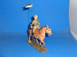 Elastolin 10cm German Lancer on Horseback Lineol