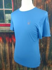 Spyder Mens Blue Alpine Tech Fitness Mesh T-Shirt Size Large NWT