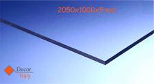 Lastra Policarbonato COMPATTO 2050x1000mm SPESSORE 5mm TRASPARENTE Protetto UV