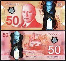 CANADA 50 DOLLARS 2012  AU++ P.109 FIRST Sign MACKLEM - CARNEY POLYMER