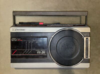 Vintage Emerson K3663 FM/AM 2-Band Radio Cassette Recorder Boombox Tested