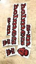 Sale!!!! S&m Holmes Decals Stickers Mid School Repro Vinyl Bmx Red Face 90s