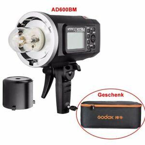 Godox AD600BM 2.4G HSS Blitz Studioblitzgerät mit Akku + CB-09 Koffer Set