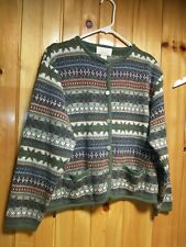 Vintage Tally Ho Sweater Cardigan Women's Size Large Made In Mexico Pockets