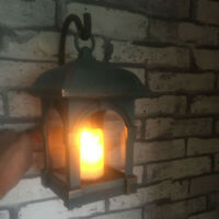 Waterproof Outdoor Solar Lantern Hanging Light LED Candle Patio Garden Lamp