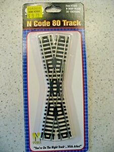 Atlas N Code 80 Track Item #2565 N Snap track 20 Degree Crossing Nickel Silver