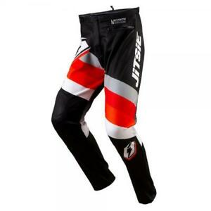JITSIE L3 VOITA TRIALS BIKE RIDING PANTS / TROUSERS. BLACK/WHITE. *NEW DESIGN*