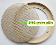 "1pcs 4 ""inch Beige car speaker grilles protection net cover decorative circle"