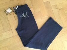 NWT Juicy Couture New & Genuine Girls Age 8 Blue Cotton Pants With Juicy Logo