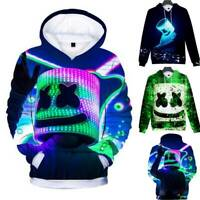 3D Print Pullover Kids Boys Hoodie DJ Marshmallow Sweatshirt Sweater Jumper Top