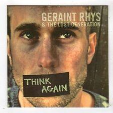 (FY557) Geraint Rhys, & The Lost Generation, Think Again - 2015 DJ CD