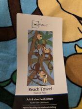 Velour Printed Monkey in Trees Kids Beach / Bath Towel