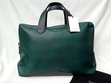 BNWT Genuine Paul Smith Mainline V-Base Folio Bag (RRP £799) Green Calf Leather