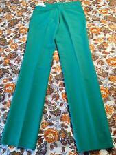 Nos! Vintage Rare Mens Sahara Pants Green Poly 70s Leisure Golf Prom Nwt Size 32