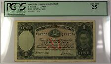 (1942) No Date Australia Commonwealth Bank 1 Pound Note R30 SCWPM#26b PCGS VF-25