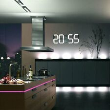 Large 3D Big LED Digital Wall Clock Skeleton Modern Design HomeDecor Alarm Timer