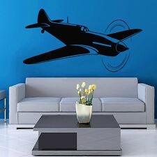 Vinyl Wall Decal Sticker Design Airplane Fighter VY368