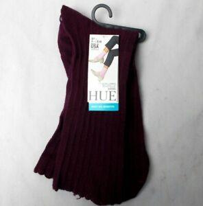 Hue Women's Scalloped Pointelle Socks Deep Burgundy One Size USA
