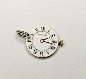 Vintage Tiffany Co Watch Face & Mechanism Necklace Pendant