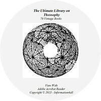 70 Books DVD, Ultimate Library on Theosophy, Occult Divinity Humanity Philosophy
