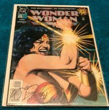 Wonder Woman #0 Signed William Messner-Loebs Mike Deodato COA CGC it JLA BOLLAND
