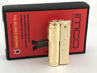 IMCO Super Triplex mit Logo neu ovp Messing poliert brass Feuerzeug Box