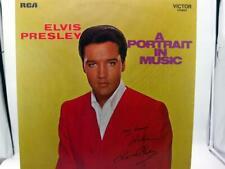 Vinyl Schallplatte LP Elvis Presley A Portrait in music signierte Auflage