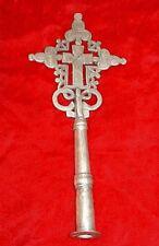 Handmade Ethiopian Coptic Christian Metal Processional Cross Ethiopia, Africa