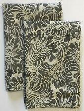 2 Pottery Barn MARI Standard Pillow Shams Gray Paisley Batik 20x26